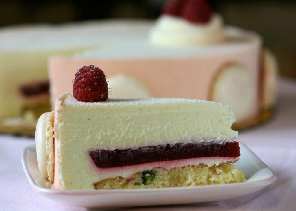 Mousse de frambuesa para rellenar tortas
