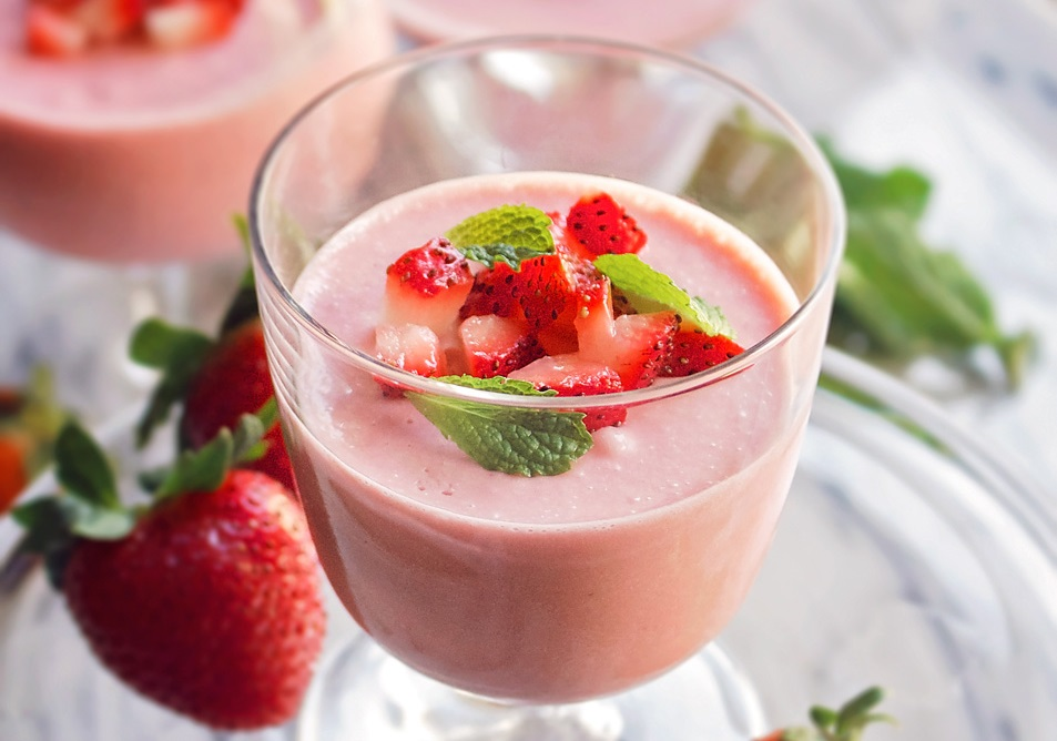 mousse de fresa facil