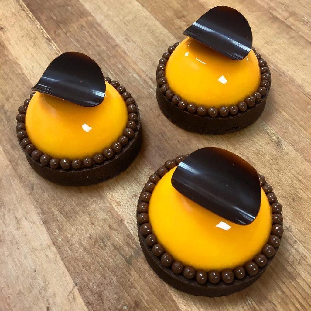 Tarta de mousse de mandarina