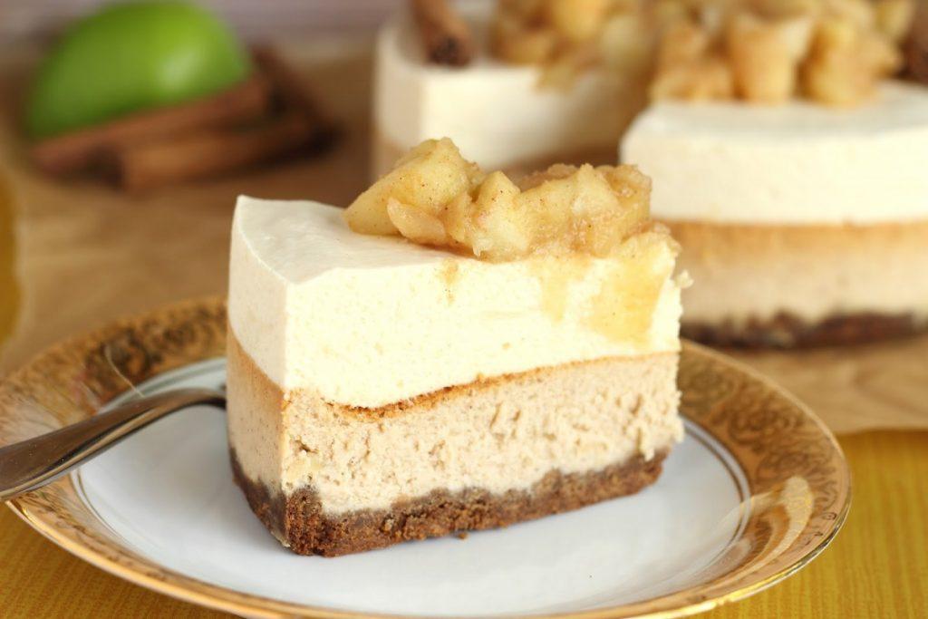 Tarta de mousse de manzana